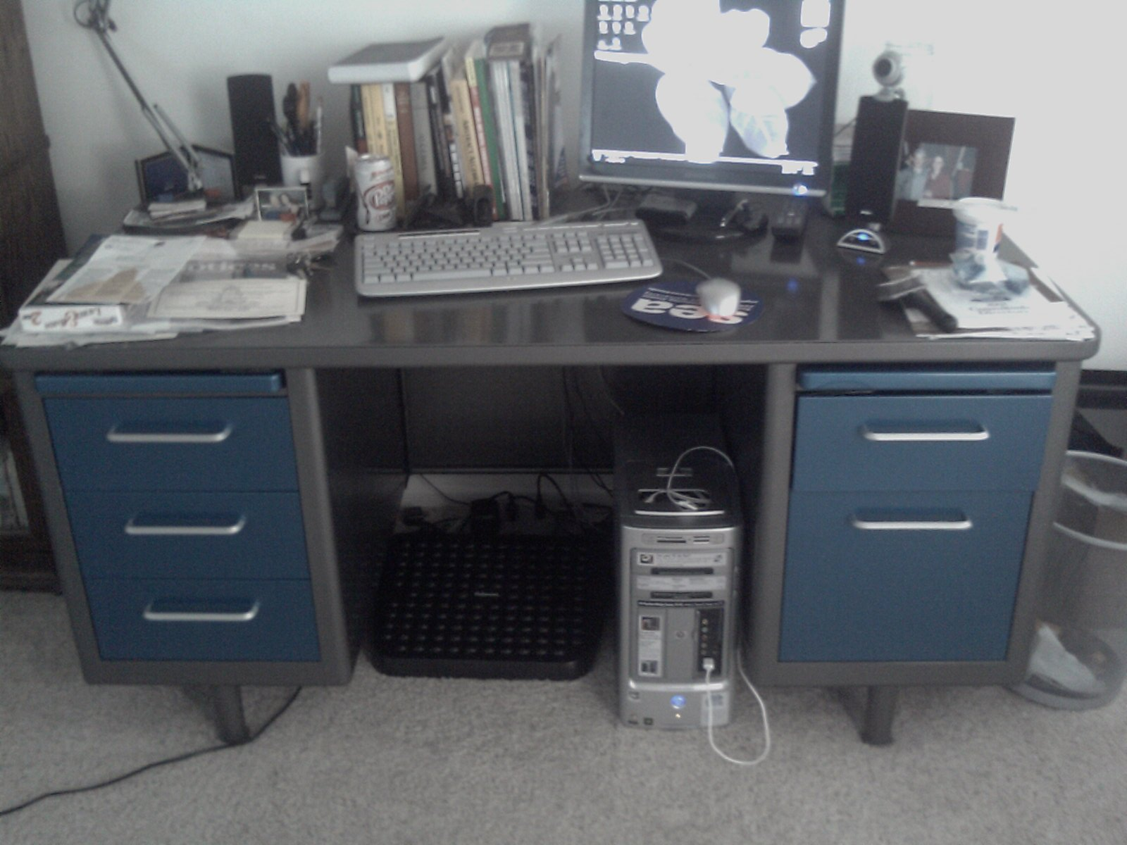 Vintage Executive Tanker Desk Refurbishing Hobby