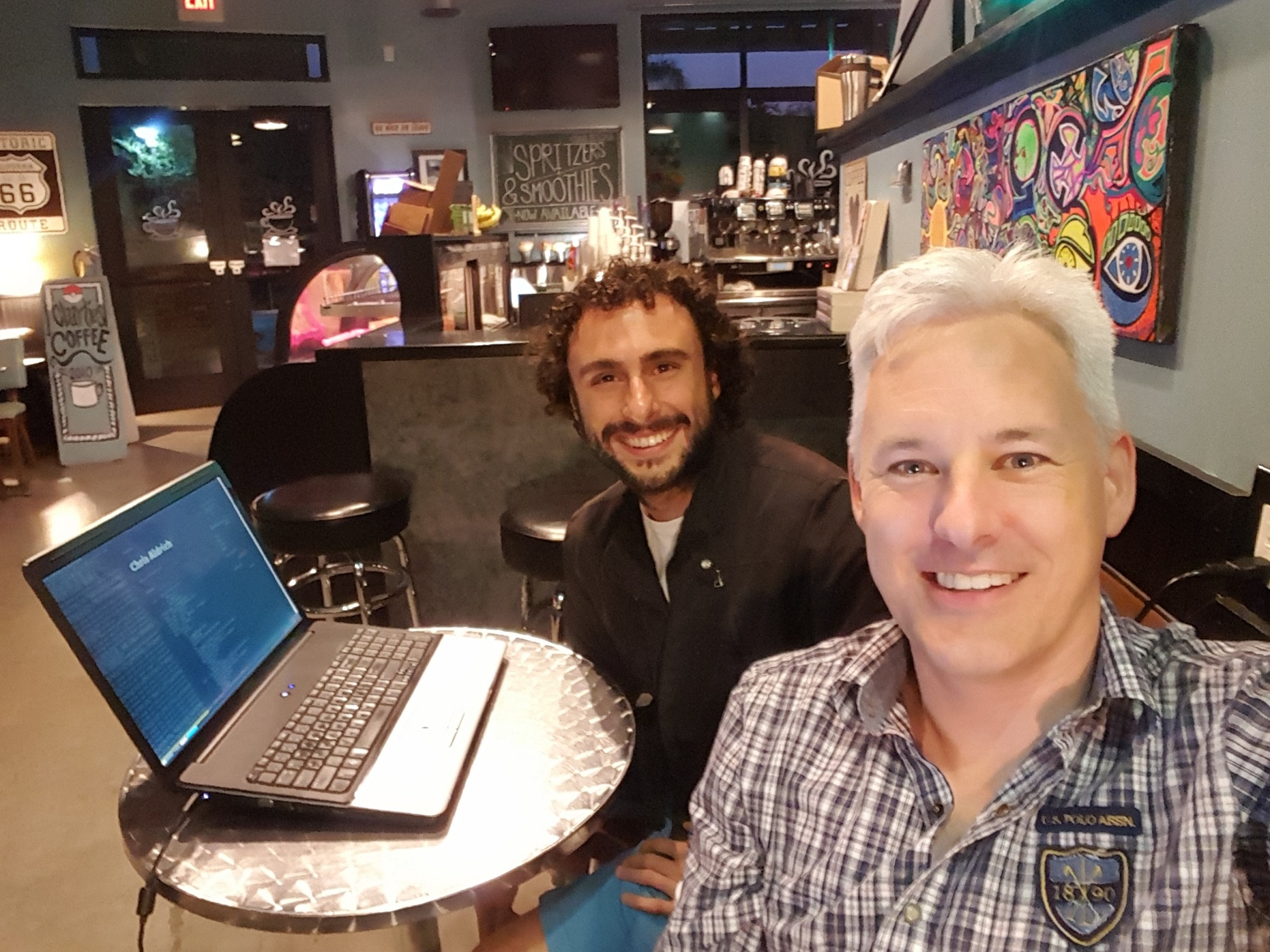 Photo of Homebrew Website Club Los Angeles with Chris and Angelo